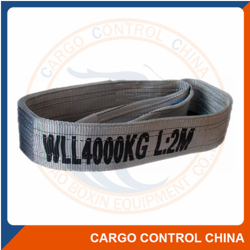 EBSL004 CAPACITY 4T FLAT WEBBING SLINGS WITH REINFORCED LIFTING EYES