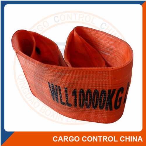 EBSL008 FLAT WEBBING SLINGS WITH REINFORCED LIFTING EYES