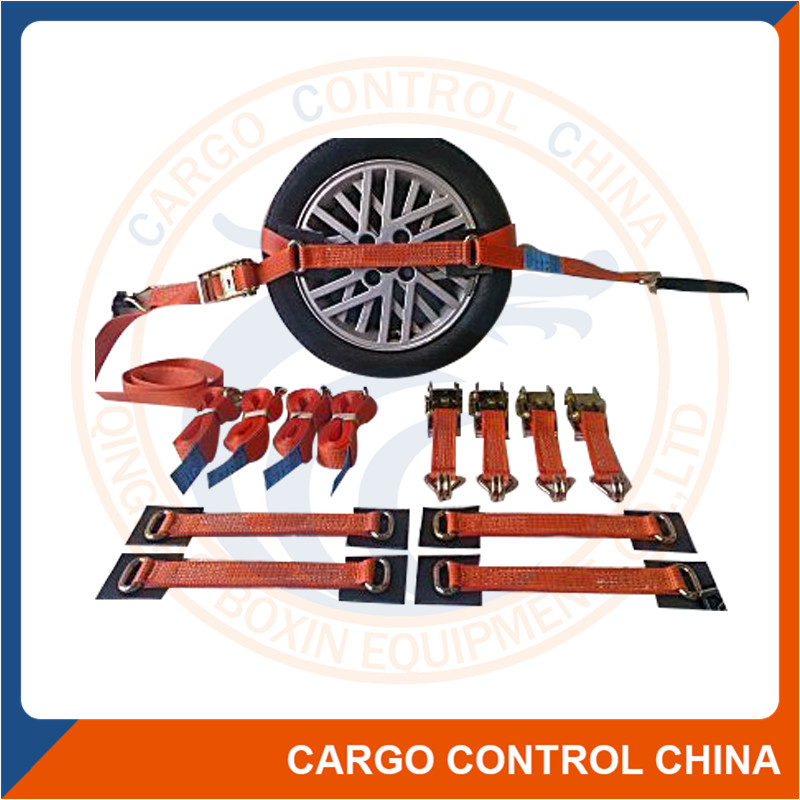 EB50032 CAR TIE-DOWN STRAPS FOR RECOVERY AND TRANSPORT USE