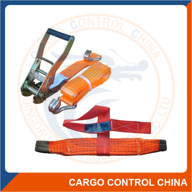 EB50034 50MM CAR LASHING STRAP WITH DOUBLE J HOOK